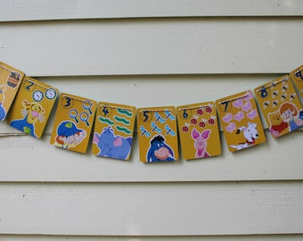 Vintage Pooh and Friends Bunting (Yellow)