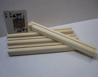 Wooden Playing card Holder / Set of four