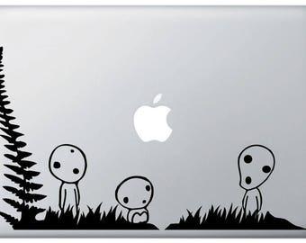 Kodama Tree Spirit Macbook Decal
