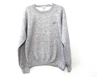 Vintage 80s heather gray sweatshirt crewneck blank usa
