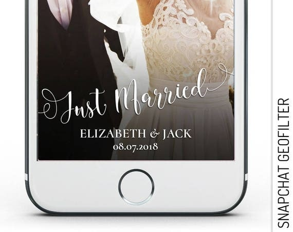 Just Married Snapchat GeoFilter