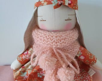 Laurette linen doll.