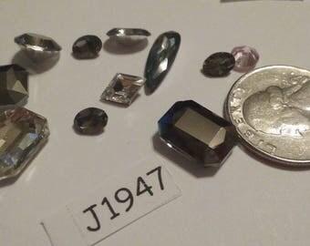Vintage, Swarovski Rhinestone,  Unique, Shape, Swarovski,  Rhinestone, Lot, Rhinestone Lot, J1947