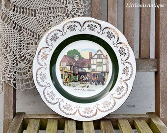 Vintage Ascot Service Plate by Wood and Sons England Decorative Wall Plate Broadhurst Bros Burslem Made in England Display/Collector Plate