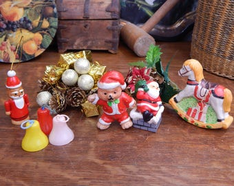 Vintage Mixed Christmas Tree Hanging Ornaments & Decorations
