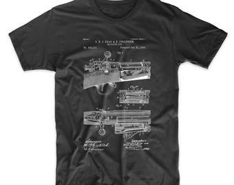 Repeating Rifle Patent T Shirt, Bolt Action Shirt, Gun Shirt, Gun Enthusiast, PP0913