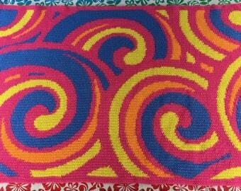 Crocheted 4 Color Scheme Swirly Blanket