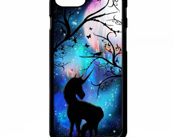 Unicorn full moon witch magic symbol stars space art cover for iphone 4 4s 5 5s 5c 6 6s 7 plus SE phone case
