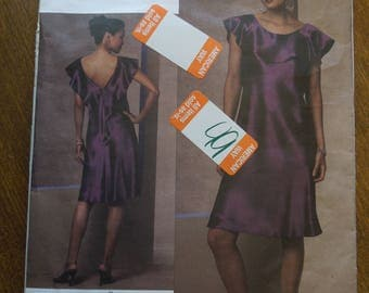 Vogue V1138, 3 pattern piece dress for evening or dinner, sewing pattern, craft supplies, womens sizes 6-12