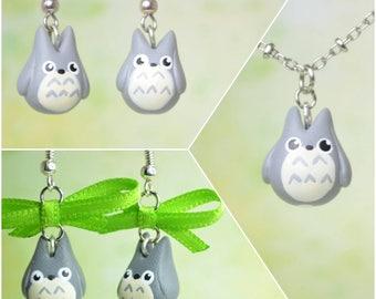 Studio Ghibli Inspired Totoro Earrings OR Necklace