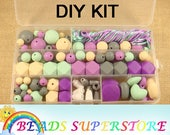 SALE Baby's Paradise DIY Silicone Teething Necklace Exclusive Kit - Free Bead Storage Case Included