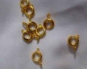 10 Golden 10 * 6mm jewelry clasps