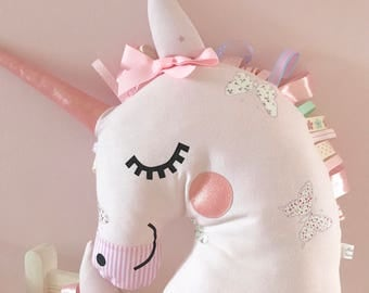 Unicorn cushion, whimstical cushions, girls room decor, kids room decor, nursery, unicorns, pillows, girls gifts, kids birthday inspiration