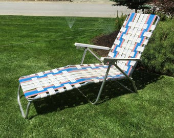 Aluminum webbed lawn chair