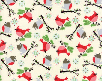 Jingle - Bird Friends Natural by Keiki for Moda 1/2 yard, 33251 11