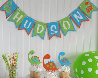 Personalized Dinosaur Birthday Party Banner