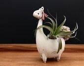llama vase ONE/ alpaca vase/ air plant vase / cream and sugar / price for one llama