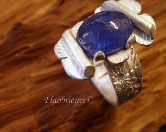 ring Silver 925 tanzanite by flaobience jeweler montpellier