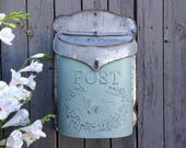 Galvanized Metal Post Box in French Country Custom Colors