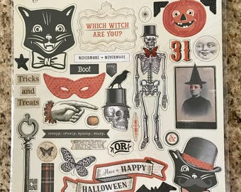 My Minds Eye Something Wicked Chipboard Elements