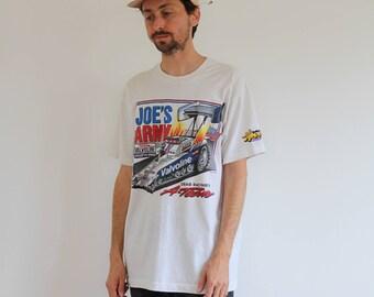 Joes Army 90s Drag Racing Shirt Large