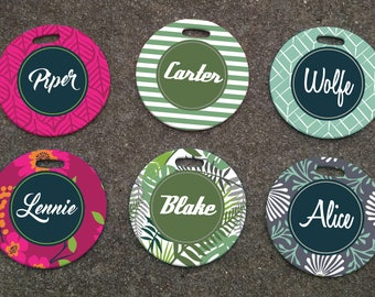 Personalized Floral Patterned Luggage Tag - Personalized Luggage Tags