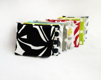 Small Cosmetic bag - Set of 16 - Make up Organizer - Vanity Storage - Wallet - Bridesmaid bags - Monogram makeup bag - Make up pouch - Small