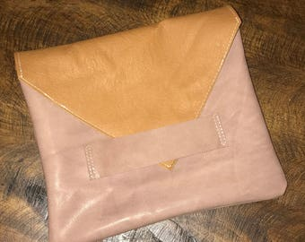 Leather Clutch, Joanna Gaines inspired