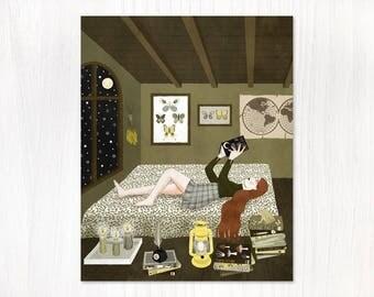 attic postcard