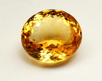 35% ON SALE Citrine Gemstone Oval Cut - Yellow Citrine Gemstones - Citrine Gems Size 15x13.5x9.8 mm at Wholesale Price