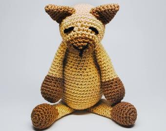 Crochet Stuffed Cat - Knit Stuffed Cat - Stuffed Animal Cat - Plush Cat - Hand Knit Cat - Stuffed Animals - Baby Toys - Baby Gifts
