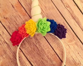 Unicorn Headband - unicorn horn - unicorn hair band