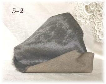 5 mm pile Italian VISCOSE Plush Fabric Miniature Fur Hand Dyed (5-2)  1/8 m teddy bear making supplies