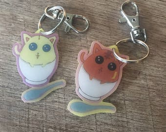 Cute cat keychain kawaii puddin kitty cats
