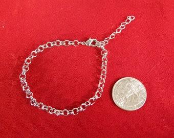 BULK! 10pc 7 inch small bracelet 18cm in antique silver style (JC178B)
