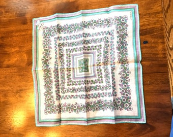 Vintage Kreier 100% Cotton Switzerland Handkerchief
