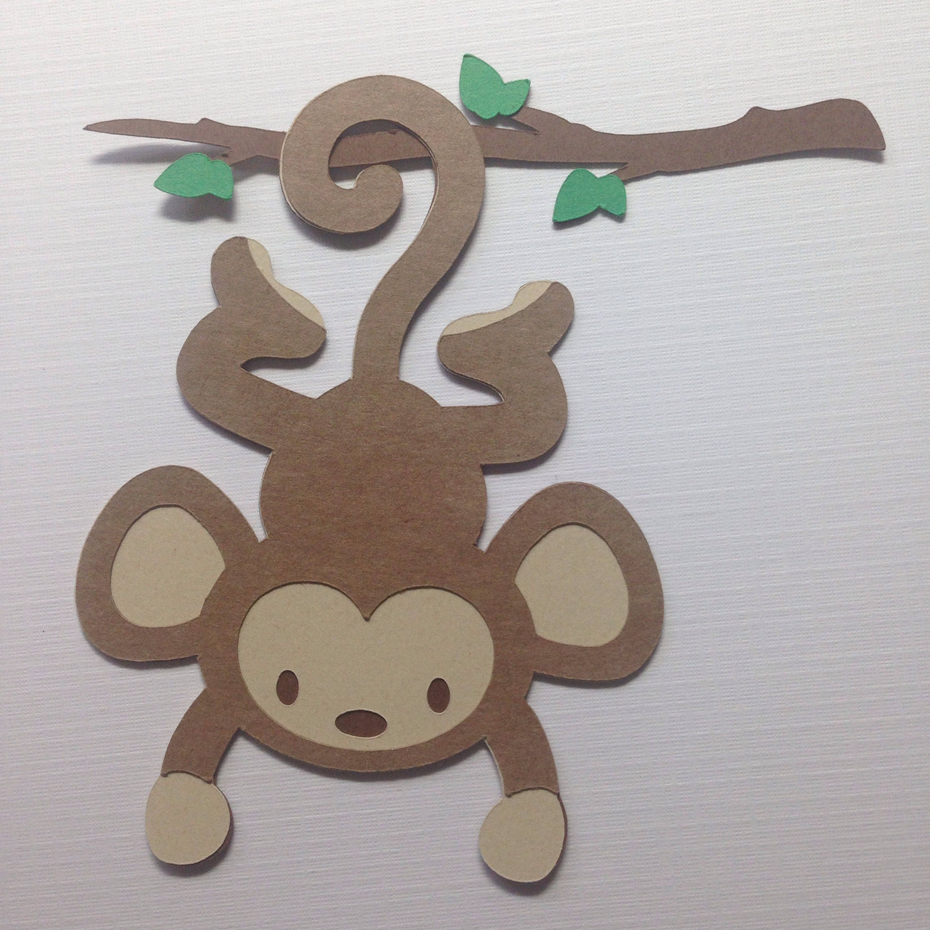 Safari Animal Cut Outs Monkey Jungle Animal Cardstock Die
