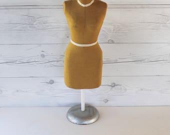Vintage Half Scale Dress Form on Stand, Vintage 1/2 Scale Dressmaker's Form