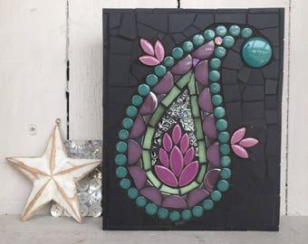 Jewel like mosaic paisley panel