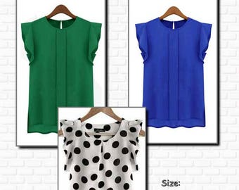 PDF Pattern, Light top, Top, Blouse,Woman, volant sleeves,Sewing pattern, Design pattern, Modern pattern, Blouse pattern, Fashion, Clothing,