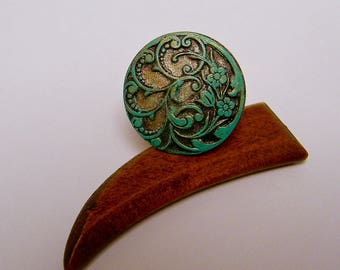 20% off PROMOTION - ring adjustable vintage - floral rosette.