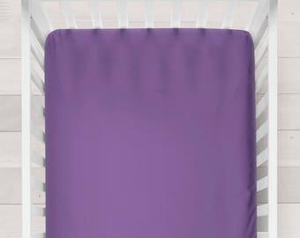 Purple Fitted Crib Sheet Baby Girl Gift Girl Nursery Bedding Girl Crib Bedding Baby Girl Bedding Purple Nursery Bedding Purple Baby Bedding