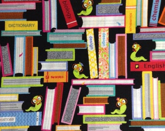 One Half Yard of Fabric - Bookworm, Books, Back to School