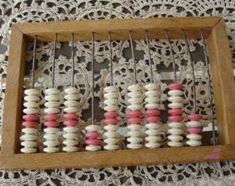 Vintage Soviet Abacus/USSR/Old Wooden Abacus/ Rustic Office Décor/Soviet Toy/1980s