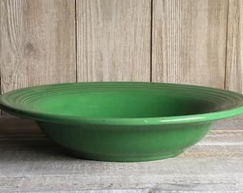 Vintage Fiesta Deep Plate - Medium Green