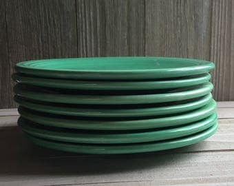 "Vintage Fiesta 6"" Bread & Butter Plate - Green / Light Green"
