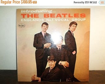 Save 30% Today Vintage 1964 Vinyl LP Record Introducing the Beatles Vee Jay Records Genuine Copy Color Band Label Very Good 10312