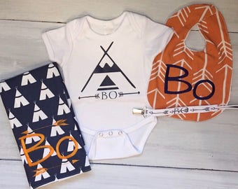 Personalized Teepee Baby Set