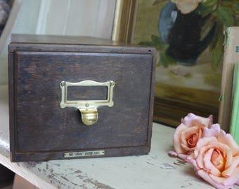 Antique Desk Top Filing Cabinet - Antique Drawers - Antique Office Cabinet
