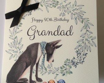 Personalised Dog Birthday Card Dad, Husband, Grandad, Brother, Son, Uncle 30th 40th 50th 60th  70th 80th 90th 100th